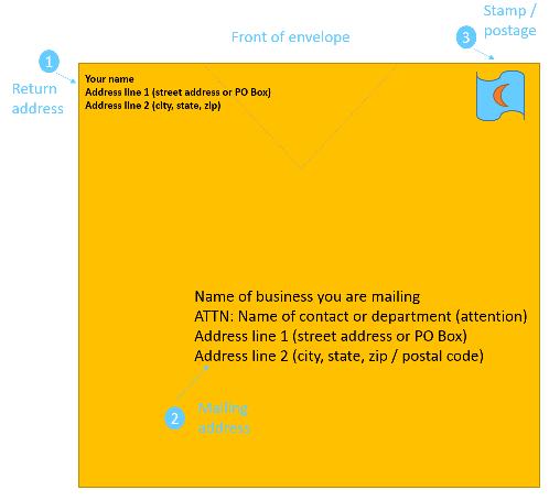Address A Business Envelope Folder